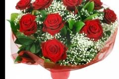 12 Valentines Roses