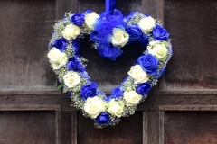 Blue white hanging Heart