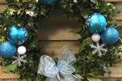 Blue Bauble Wreath