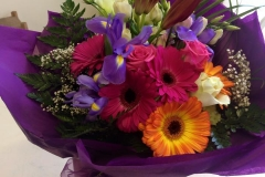 Bouquet in Purple Wrapping