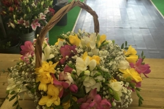 Bouquet in basket Door