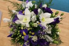 Purple white Display Beads