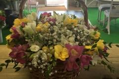 flowers in basket_door